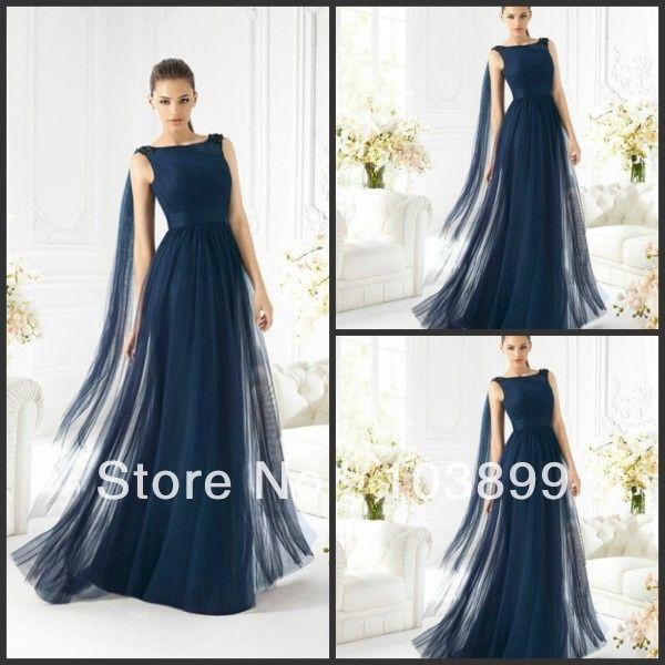 Vestidos para damas de honor azul petroleo