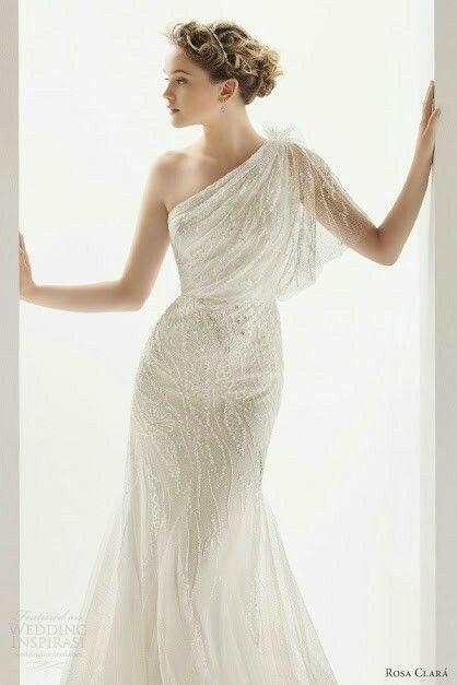 Tu vestido de novia con inspiración en diosas griegas 27
