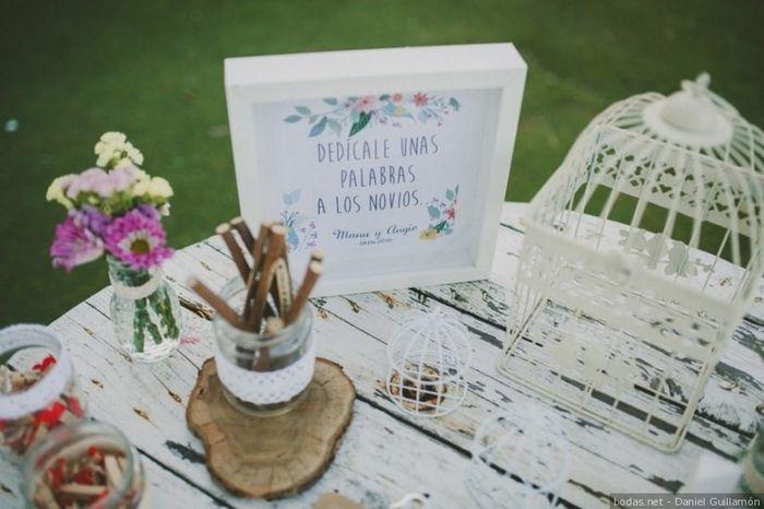 Mesas para libro de firmas foro antes de la boda bodas - Mesas de libro para salon ...