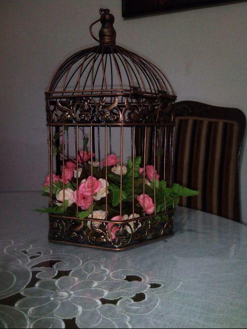 Centros de mesa con jaula foro organizar una boda for Centros de mesa artificiales