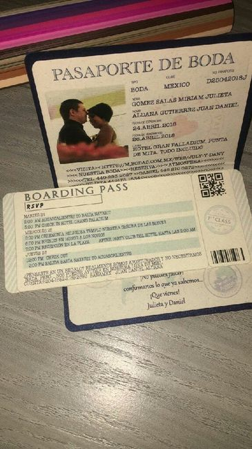 Invitaciones De Boda Tipo Pasaporte Foro Manualidades Para Bodas
