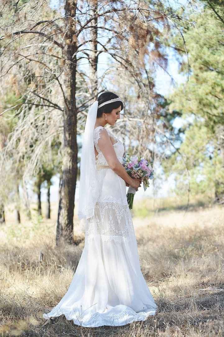 Enamorada de mi vestido de novia ?
