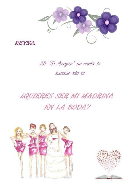 4d99f7f3a Invitación para las madrinas - Foro Organizar una boda - bodas.com.mx