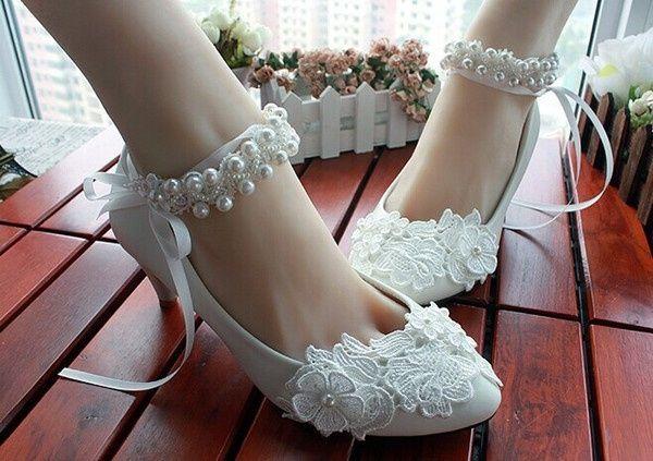zapatos de novia bajitos y con aplicaciones de encaje ! - foro moda