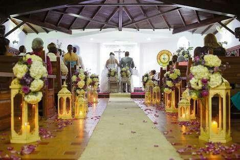 decoración de la iglesia, estilo vintage - foro ceremonia nupcial