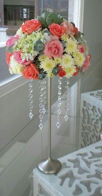 Centros de mesa altos flores naturales foro organizar - Mesa de centro blanca ...