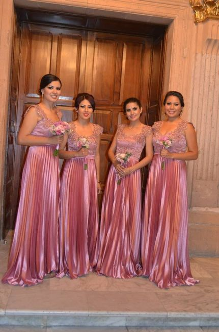 Encantador Coral Vestidos De Dama De Rosa Composición - Ideas de ...