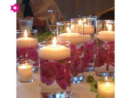 Arreglos de mesa con vasos de cristal foro organizar una for Decoraciones faciles y economicas