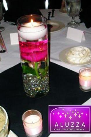 Arreglos de mesa con vasos de cristal foro organizar una for Mesas de cristal para bodas
