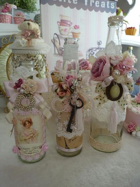 ideas para decorar con botellas vintage foro