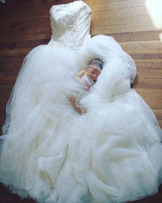 Sesión de bebé, ¡con tu vestido de novia! 1