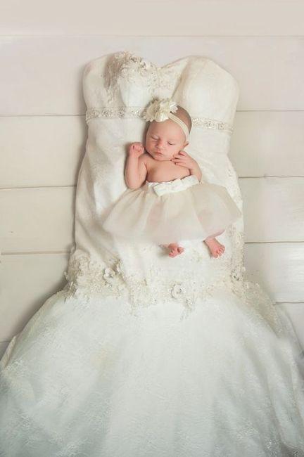 Sesión de bebé, ¡con tu vestido de novia! 3
