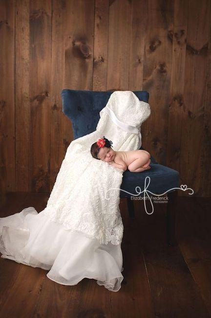 Sesión de bebé, ¡con tu vestido de novia! 4