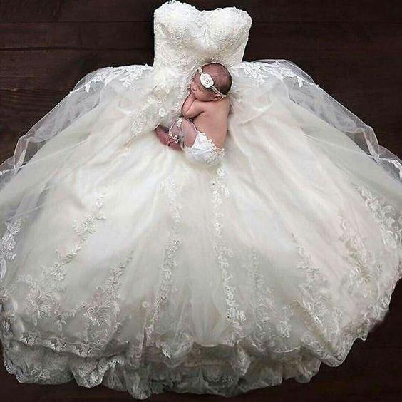 Sesión de bebé, ¡con tu vestido de novia! 5
