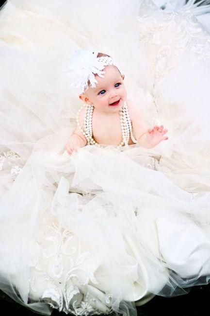 Sesión de bebé, ¡con tu vestido de novia! 6