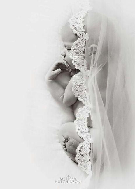 Sesión de bebé, ¡con tu vestido de novia! 8