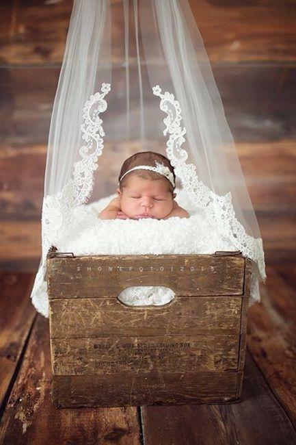 Sesión de bebé, ¡con tu vestido de novia! 9