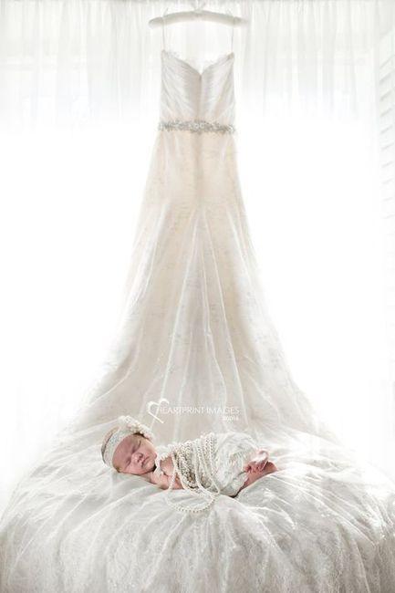 Sesión de bebé, ¡con tu vestido de novia! 10