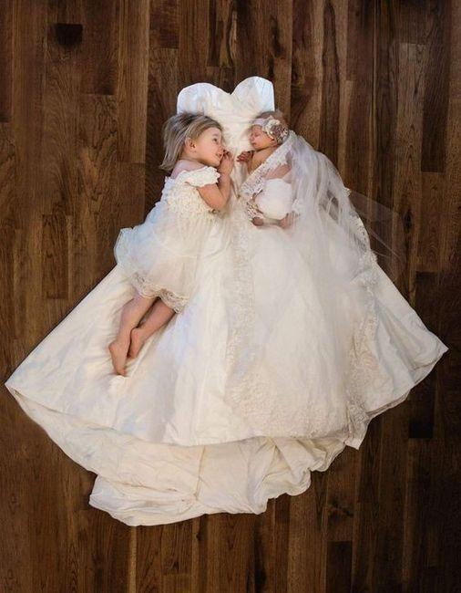 Sesión de bebé, ¡con tu vestido de novia! 12