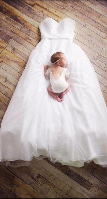 Sesión de bebé, ¡con tu vestido de novia! 13
