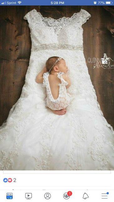 Sesión de bebé, ¡con tu vestido de novia! 14