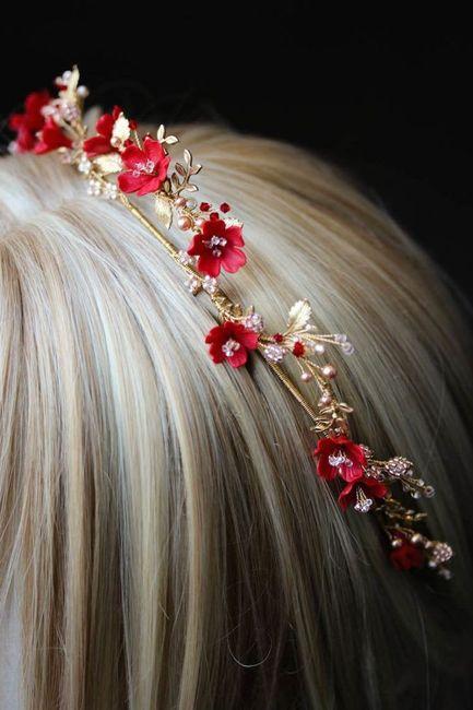Accesorios para el cabello en rojo!! 1