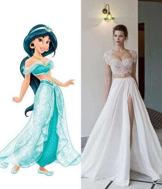 Vestidos de novia inspirados en las princesas de Disney 1