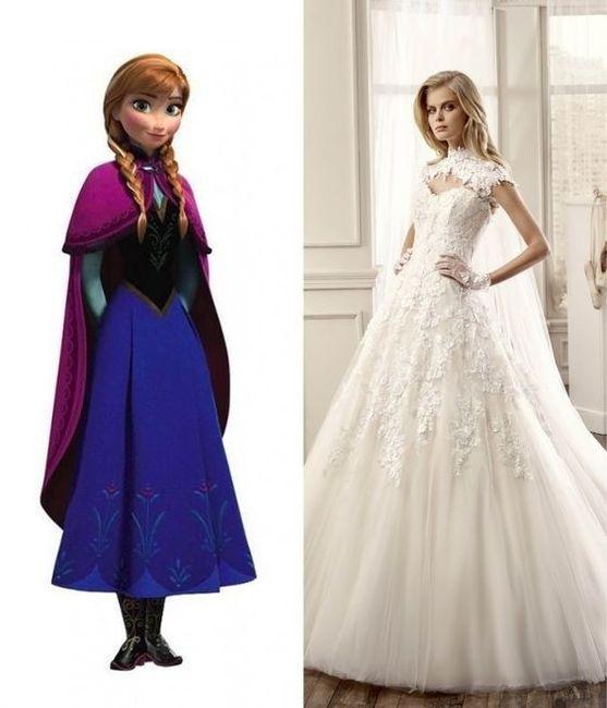 Vestidos de novia inspirados en las princesas de Disney 2