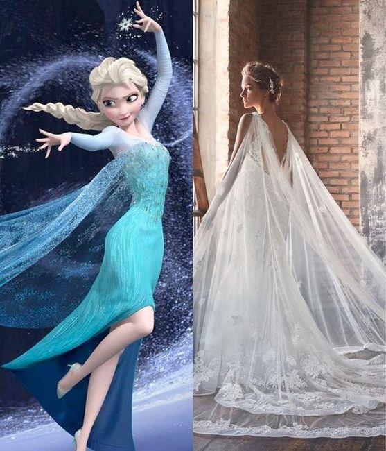 Vestidos de novia inspirados en las princesas de Disney 4