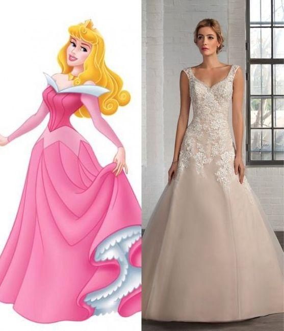 Vestidos de novia inspirados en las princesas de Disney 6