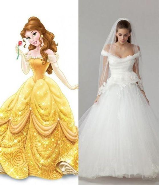 Vestidos de novia inspirados en las princesas de Disney 7