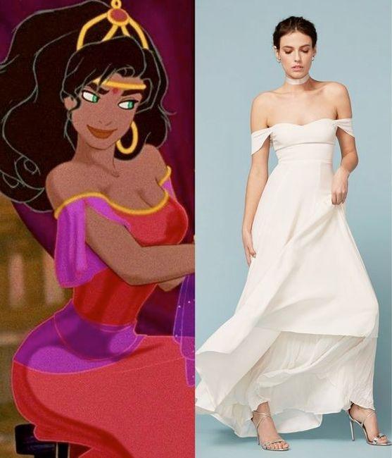 Vestidos de novia inspirados en las princesas de Disney 9