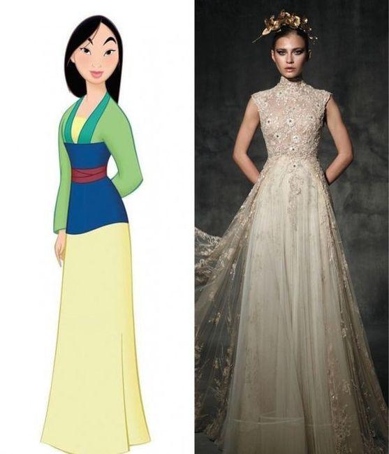 Vestidos de novia inspirados en las princesas de Disney 10