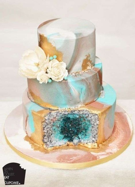"""Hermosos pasteles de """"cuarzo"""" 3"""