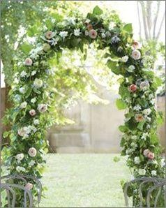 entradas y altares decorados para jardines