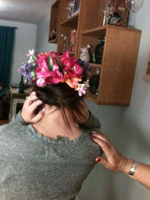 c6fd68aab4 Tocado floral diy - Foro Manualidades para bodas - bodas.com.mx