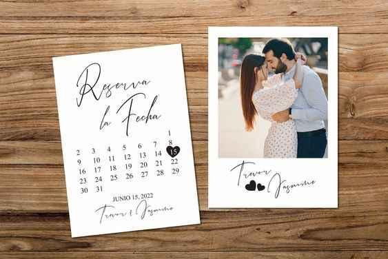 Ayuda con tarjetas save the date! - 1