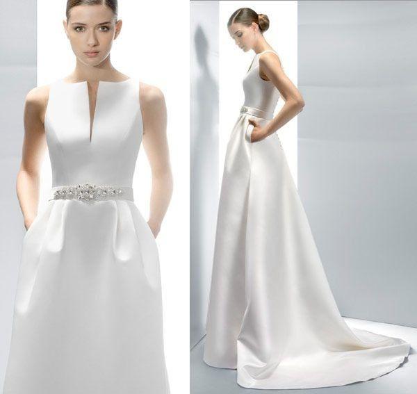 a7568bd60 Tendencia 2018 vestidos minimalistas - Foro Moda Nupcial - bodas.com.mx