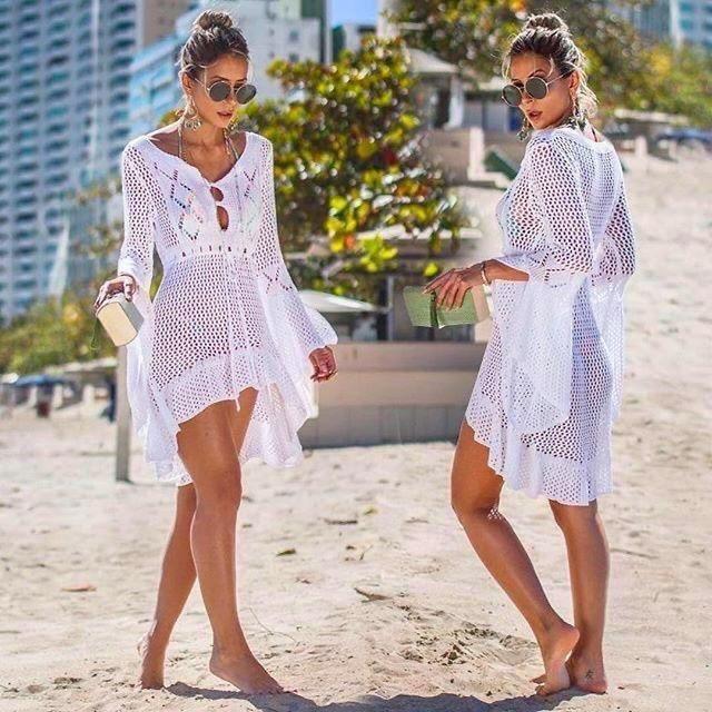 Vestidos para playa en el mes rosa 🎗 2