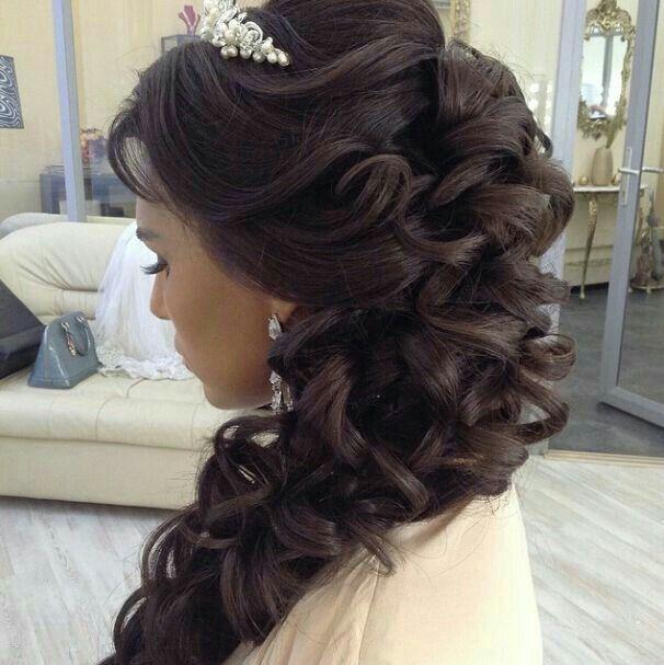 Side Hairstyles For Long Hair Wedding: Peinados De Cascada