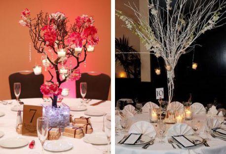 Centros de mesa con arboles secos - Imagui