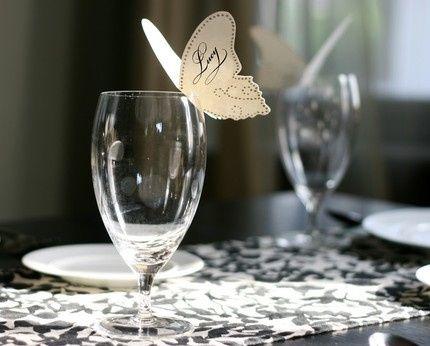 Decoracion de mariposas sobre copas foro manualidades for Centros de mesa con copas
