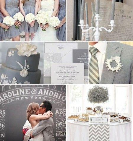 combinación de colores para una boda color gris - foro organizar una