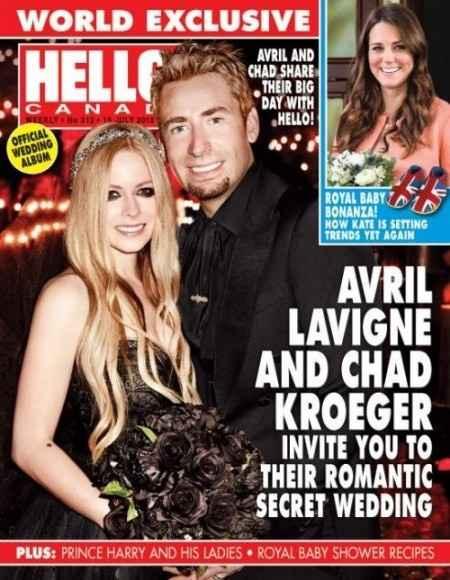 """had Kroeger, cantante y líder de la banda canadiense """"Nickelback"""" le propuso matrimonio a la también"""