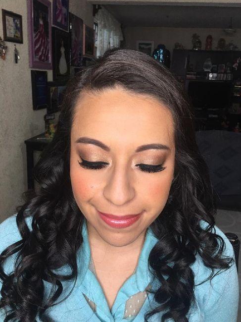 Mi prueba de peinado y maquillaje 💕 1