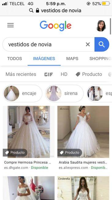 """[JUEGO] Si Googleas """"Vestido de novia""""... 3"""