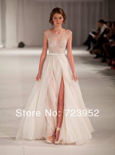 Vestidos de novia con corte en la pierna