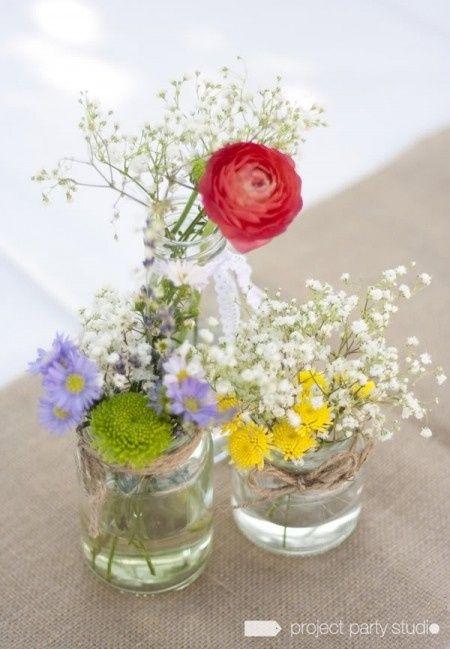 Frascos para centros de mesa foro manualidades para for Mesas de centro en vidrio
