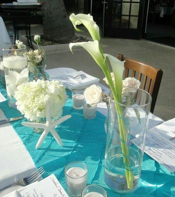 flores para los centros de mesa y ramo