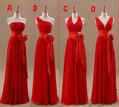 Vestidos De Dama Tonos Rojos Foro Moda Nupcial Bodascommx